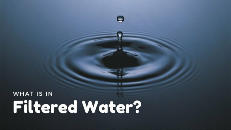 What is in Filtered Water?